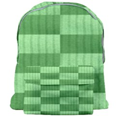 Wool Ribbed Texture Green Shades Giant Full Print Backpack