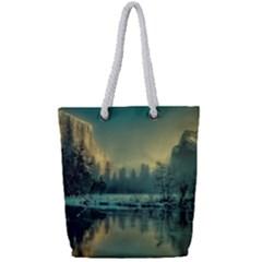Yosemite Park Landscape Sunrise Full Print Rope Handle Bag (small)