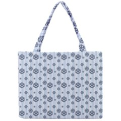 Snowflakes Winter Christmas Card Mini Tote Bag by Celenk