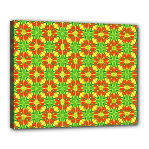 Pattern Texture Christmas Colors Canvas 20  X 16