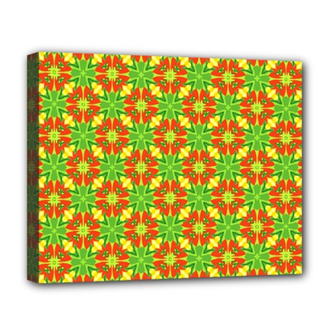 Pattern Texture Christmas Colors Deluxe Canvas 20  X 16   by Celenk