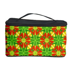 Pattern Texture Christmas Colors Cosmetic Storage Case by Celenk