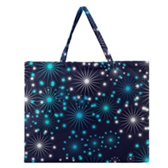 Wallpaper Background Abstract Zipper Large Tote Bag by Celenk