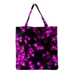 Abstract Background Purple Bright Grocery Tote Bag by Celenk