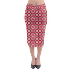 Christmas Wrapping Paper Midi Pencil Skirt by Celenk