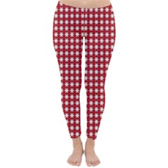 Christmas Paper Wrapping Paper Classic Winter Leggings by Celenk