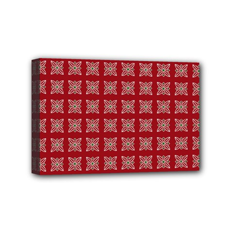 Christmas Paper Wrapping Paper Mini Canvas 6  X 4  by Celenk