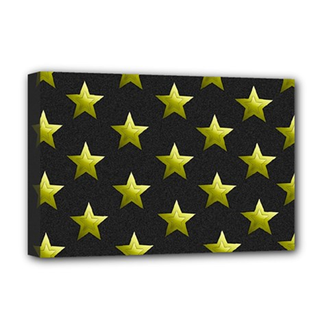 Stars Backgrounds Patterns Shapes Deluxe Canvas 18  X 12   by Celenk