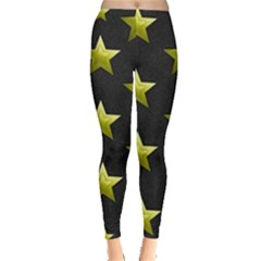 Stars Backgrounds Patterns Shapes Leggings  by Celenk
