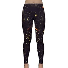 Star Sky Graphic Night Background Classic Yoga Leggings by Celenk