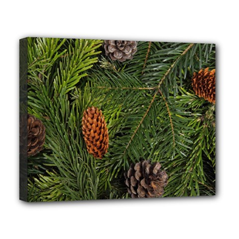 Branch Christmas Cone Evergreen Deluxe Canvas 20  X 16   by Celenk