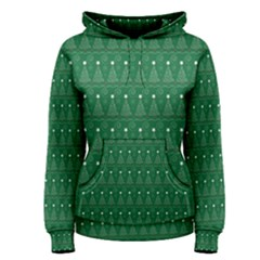 Christmas Tree Pattern Design Women s Pullover Hoodie