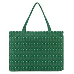Christmas Tree Pattern Design Zipper Medium Tote Bag by Celenk