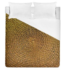 Background Gold Pattern Structure Duvet Cover (queen Size)