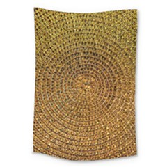 Background Gold Pattern Structure Large Tapestry