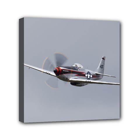 P 51 Mustang Flying Mini Canvas 6  X 6  by Ucco