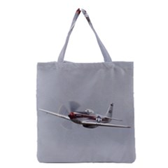 P 51 Mustang Flying Grocery Tote Bag by Ucco
