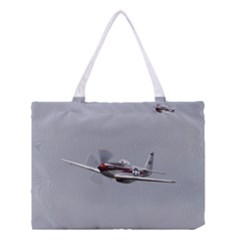 P 51 Mustang Flying Medium Tote Bag by Ucco