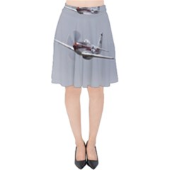 P 51 Mustang Flying Velvet High Waist Skirt by Ucco