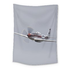 P 51 Mustang Flying Medium Tapestry by Ucco