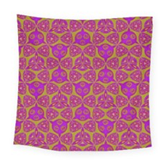 Sacred Geometry Hand Drawing Square Tapestry (large) by Cveti