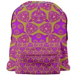 Sacred Geometry Hand Drawing Giant Full Print Backpack by Cveti