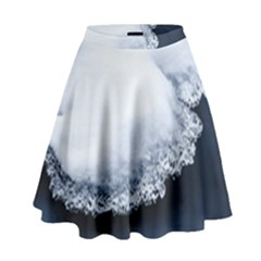 Ice, Snow And Moving Water High Waist Skirt by Ucco