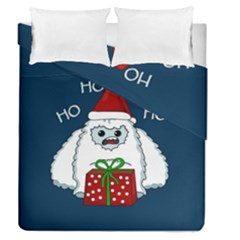 Yeti Xmas Duvet Cover Double Side (queen Size) by Valentinaart