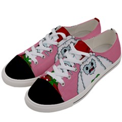 Yeti Xmas Women s Low Top Canvas Sneakers by Valentinaart