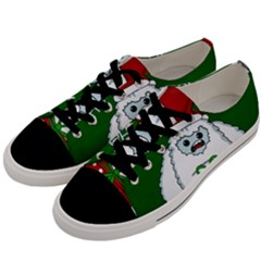 Yeti Xmas Men s Low Top Canvas Sneakers by Valentinaart