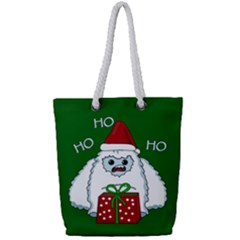 Yeti Xmas Full Print Rope Handle Bag (small) by Valentinaart