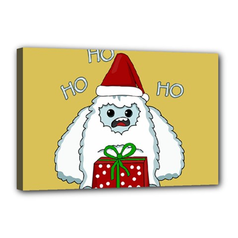 Yeti Xmas Canvas 18  X 12  by Valentinaart