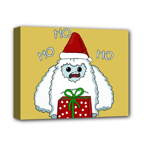 Yeti Xmas Deluxe Canvas 14  X 11  by Valentinaart