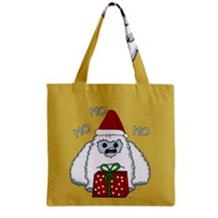Yeti Xmas Grocery Tote Bag by Valentinaart