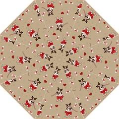 Pug Xmas Pattern Hook Handle Umbrellas (medium) by Valentinaart