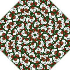 Yeti Xmas Pattern Folding Umbrellas by Valentinaart