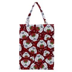 Yeti Xmas Pattern Classic Tote Bag by Valentinaart