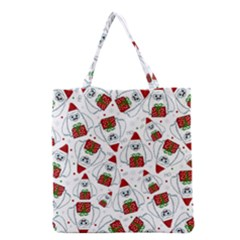 Yeti Xmas Pattern Grocery Tote Bag by Valentinaart