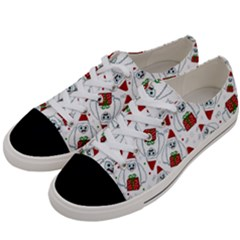Yeti Xmas Pattern Women s Low Top Canvas Sneakers by Valentinaart