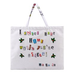 Santa s Note Zipper Large Tote Bag by Valentinaart