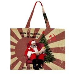 Karl Marx Santa  Zipper Large Tote Bag by Valentinaart