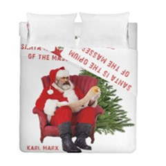 Karl Marx Santa  Duvet Cover Double Side (full/ Double Size) by Valentinaart