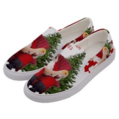 Karl Marx Santa  Men s Canvas Slip Ons by Valentinaart