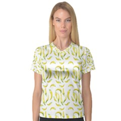 Chilli Pepers Pattern Motif V Neck Sport Mesh Tee