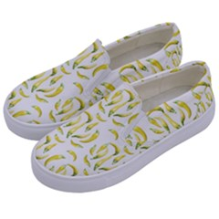 Chilli Pepers Pattern Motif Kids  Canvas Slip Ons by dflcprints