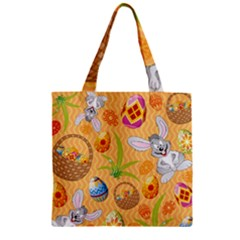 Easter Bunny And Egg Basket Zipper Grocery Tote Bag by AllThingsEveryone