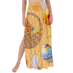 Easter Bunny And Egg Basket Maxi Chiffon Tie Up Sarong by allthingseveryone