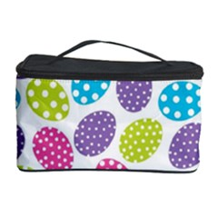 Polka Dot Easter Eggs Cosmetic Storage Case by allthingseveryone