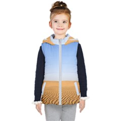 Desert Dunes With Blue Sky Kid s Puffer Vest by Ucco