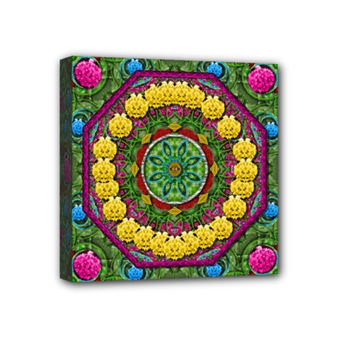 Bohemian Chic In Fantasy Style Mini Canvas 4  X 4  by pepitasart